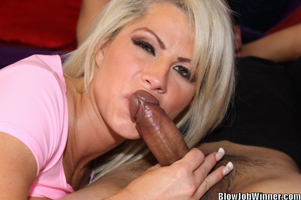 photos brooke haven giving a blowjob to lucky winner gilbert